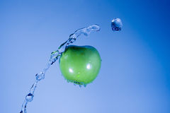 Splashing Apple Stock Photos