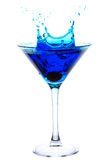 Splashing Blue Martini Stock Images