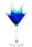 Splashing Blue Martini Stock Images