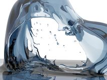 Splashing blue sparkling pure water. Abstract nature background. 3d render illustration royalty free stock photography