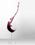 Splashing Bordeaux Royalty Free Stock Photo
