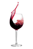 Splashing Bordeaux Stock Photo