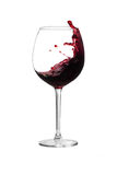 Splashing Bordeaux Royalty Free Stock Photography