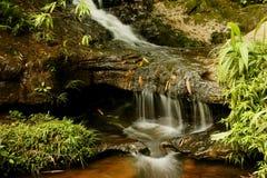 Splashing brook water. Streams of brook water splashing and running briskly Royalty Free Stock Image