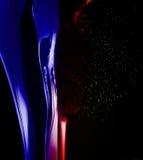 Splashing bubble colorful curve. Splashing bubble colorful curve on black background. Splash abstract Stock Image