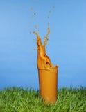 Splashing Carrot juice Royalty Free Stock Photo