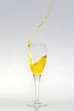 Splashing champagne Stock Image