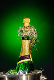 Splashing champagne Royalty Free Stock Photography