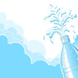 Splashing clean water.Vector  background for text. Plastic bottle and Splashing clean water.Vector  background for text Royalty Free Stock Images