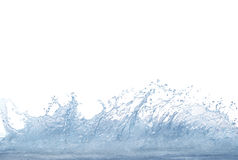 Splashing clear and clean  water on white background use for ref Royalty Free Stock Photos