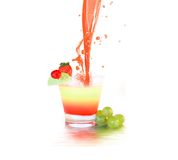 Splashing coctail Stock Photos
