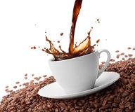 Splashing coffee Royalty Free Stock Photo