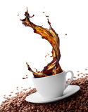 Splashing coffee Stock Image