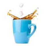 Splashing coffee Royalty Free Stock Images