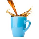 Splashing coffee Stock Images