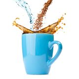 Splashing coffee Stock Photos