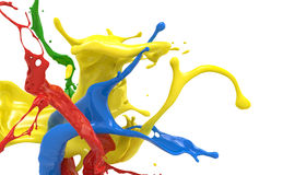 Splashing colors Royalty Free Stock Photography