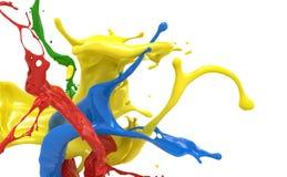 Splashing colors royalty free stock photography