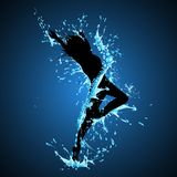 Splashing Dancing Lady Royalty Free Stock Photography