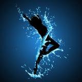 Splashing Dancing Lady Royalty Free Stock Photography