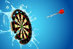 Splashing Dart Board Stock Photo