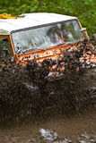 Splashing Dirt Stock Photography
