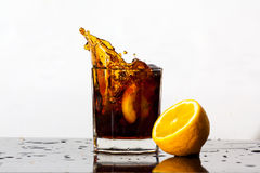 Splashing drink Royalty Free Stock Photography