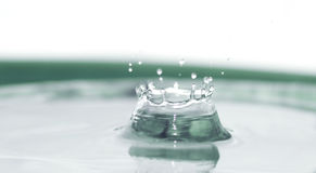 Splashing drop Royalty Free Stock Photos