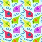 Splashing Elephant Background Seamless. Doted elephants splashing water. Seamless tile background Royalty Free Stock Images