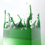 Splashing Fluid Royalty Free Stock Photos