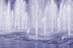 Splashing fountain Stock Photo