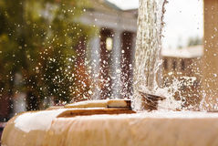 Splashing fountain Royalty Free Stock Photography