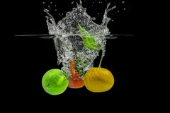 Splashing Fruits Royalty Free Stock Photos