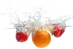 Splashing Fruits Royalty Free Stock Image