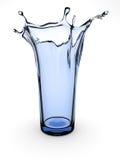 Splashing glass stock image