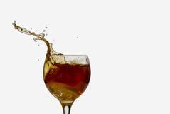 Splashing iced tea with lemon Stock Photography