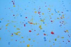 Splashing of ink color drop royalty free stock photo