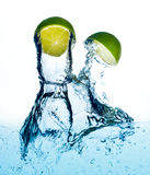 Splashing kiwi Royalty Free Stock Photography