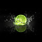Splashing Lime  Royalty Free Stock Photo