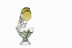 Splashing the Lime Stock Image