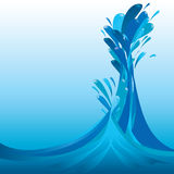 Splashing liquid. Vector illustration. Look for more illustrations in my portfolio Stock Image