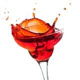 Splashing margarita cocktail Royalty Free Stock Images