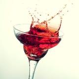 Splashing margarita cocktail Stock Photography