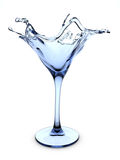 Splashing martini cocktail glass. 3d isolated on white background objects series Royalty Free Stock Photo