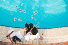 Splashing money concept Royalty Free Stock Images