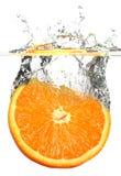 Splashing orange Stock Photos