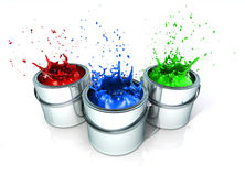 Splashing paint Royalty Free Stock Image