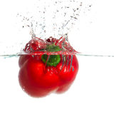 Splashing paprika Royalty Free Stock Image