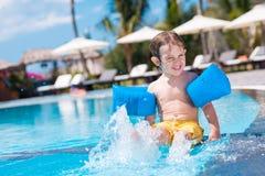 Splashing in the pool Royalty Free Stock Images