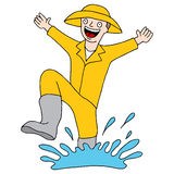 Splashing Puddle Man Royalty Free Stock Image